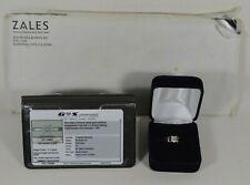 Zales .59 1/2 Carat Natural Diamond Engagement Ring 14K White Gold Size 7