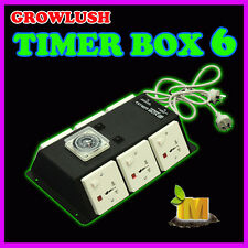 GrowLush Timer Box 6 timed outputs for Hydroponics Grow Room grow light fan