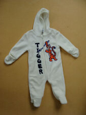 Disney Tigger Baby White Jumper One-Piece Bodysuit With Hood  Size 6-9M