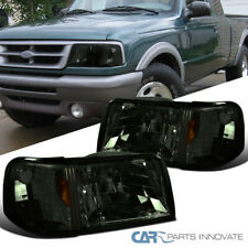 For 93-97 Ford Ranger 2in1 Smoke Lens Headlights+Corner Turn Signal Lamps Pair