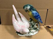 Wagner und Apel Porzellan Figur Papageien 21 cm. 1 Wahl Top Zustand