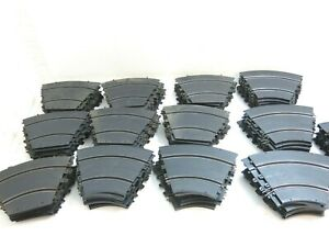 130 PIECES OF VINTAGE 1960'S ELDON 1/32 SLOT CAR TRACK - ALL CURVED VINTAGE LOT!