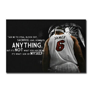 James Quotes Basketball Poster Sport Motivational Print Wall Painting Room Decor