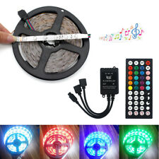 5M LED Strip Lights 3528 RGB Colour Changing + Music Remote Controller Kit