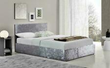 Crushed Velvet Divan Bed Base Silver Valance Cover Wrap Single Double King Size