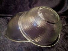 Retro PYREX '80s; TWO Embossed-Basketweave Round Nesting Mixing-Bowls; 322 323