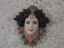 Porcelain Bisque Lady Head Pin (B8)