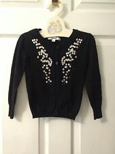 DKNY Girls Size 4 Black Sweater Pre Owned