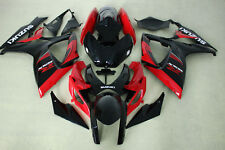 ABS Aftermarket Fairing kit fit Suzuki gsxr600/750 06-07 2006 2007 red black top