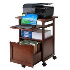 Printer Cart Computer Stand Mobile Office Rolling Laptop Storage Work Station A