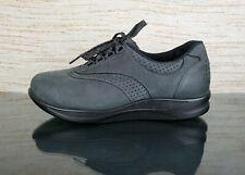 SAS WALK EASY Nero Black Nubuck Womens Sz 9 WW Double Wide Diabetic Comfort Shoe