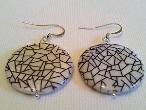 Geometric print earrings