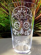 Engraved Candy Skull Pint Glass - New