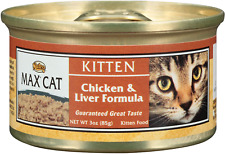 NUTRO MAX CAT Kitten Chicken and Liver Formula Canned Cat Food Pack of 24 3oz; &
