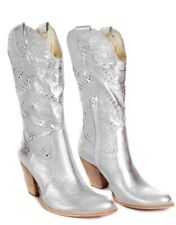 Boots  Leather Silver by Ana Lucy RRP £139.99