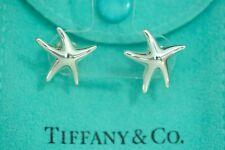 Tiffany & co. 92.5% Silver STAR FISH Stud Pierced Earrings  By ElsaPeretti