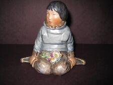 Royal Copenhagen Greenland Eskimo Boy #12419 Porcelain Overglaze Figurine