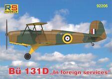 RS MODELS 1/72 BUCKER bu-131d nel servizio estero # 92206