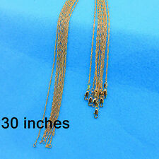 """Wholesale 30"""" 10Pcs Fashion Jewelry 18K Gold Filled Water Wave Chain Necklace"""