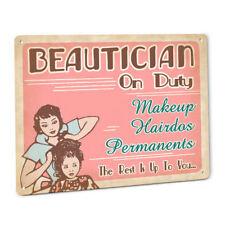 BEAUTICIAN SIGN beauty salon nails hair female perm shampoo dye exfoliate