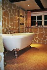 Kork Mosaik Fliesen, Outdoor u. Nassbereich Belag, 6mm massiv Korkboden Platten