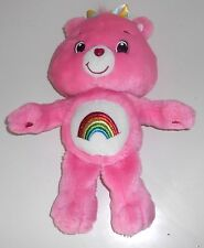 "2007 Modern Care Bears  -  'Glo in the Dark' CHEER BEAR  -  14"" Plush Bear (GX3)"