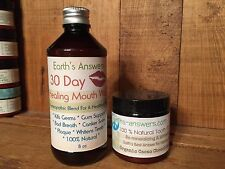 Natural Remineralizing Tooth Powder Chocolate Mint * Herbal Mouthwash Combo