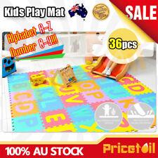 AU 36pcs Kids Baby Alphabet & Number EVA Foam Floor Puzzle Safety Play Mat Rug