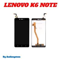 DISPLAY LCD + TOUCH SCREEN per LENOVO K6 NOTE NERO VETRO K53A48 PLUS SCHERMO
