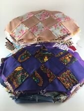 280+ hand pieced quilt blocks pointed rectangle variety colors fabric