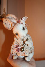 * Bunny English Tea Tetiana Sadovska Ooak Sweet Artist Bear stuffed Rabbit