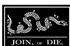 Patriotic Decal - Black American Join or Die Vinyl Sticker - Patriotic Gift