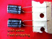 3 pcs   -   4.7uf 400v   radial aluminum electrolytic capacitors.  FREE SHIPPING