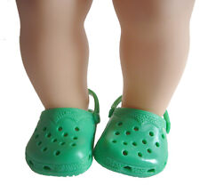 Kelly Green Krocs Duc Shoes For Bitty Baby + Twins Doll Clothes Accessories