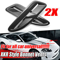 For Jaguar XKR/XK8 ABS Plastic Bonnet Vents Universal Carbon Fiber Look - */!