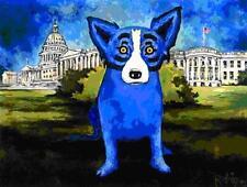 """Blue Dog George Rodrigue      """"Washington Blue Dog""""   MAKE OFFER     BA DSS"""