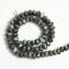 Fashion 5x8mm Natural Labradorite Stone Rondelle Faceted Gems Loose Beads 15''