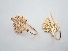 1 paio monachelle per orecchini albero della vita arg. 925 plk oro giallo