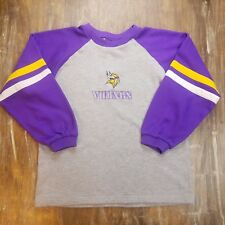 aefd04050 Kids Minnesota Vikings NFL Football Pullover Sweatshirt Crew Neck Sz Large L