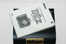 Genuine NIKON D2X Appareil photo reflex numérique original guide de l'utilisateur Manuel d'instruction