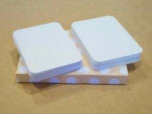 50 Blank ACEO ATC rounded corner Artist Trading Cards 100lb Bristol Paper