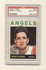 1964 Topps Barry Latman #227 PSA 8 NM-MT NQ! Angels! Nice Item! Centered! Wow!