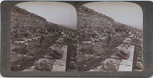 Grecia Heraeon Argolis Tirinto Agamemnon Foto Estéreo Stereoview Vintage