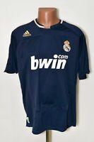 REAL MADRID 2007/2008 AWAY FOOTBALL SHIRT JERSEY ADIDAS SIZE L ADULT