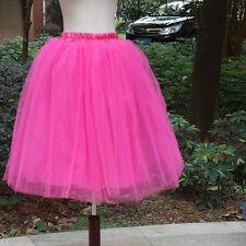 Women Girls Princess Ballet Tulle Tutu Skirt Wedding Prom Party Mini Dress Plus