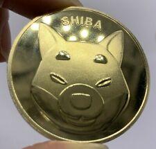 24k Gold Plated SHIBA INU Dogecoin SHIB Coin Crypto 1.2 oz Collectible Coin