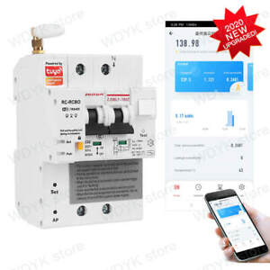 2P Tuya WIFI remote control leakage current protection circuit breaker