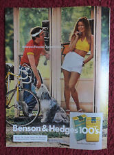 1975 Print Ad Benson & Hedges Cigarettes ~ Pretty Girl with a Dog Phone Booth