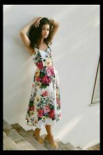 NWT Anthropologie Amelia Dress Floral Romantic Tea Party Peonies 8 $150