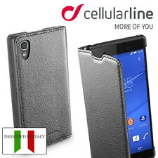 Cellularline  Case For Sony Xperia Z4 Book Wallet Flip Cover CardSlot Shockproof